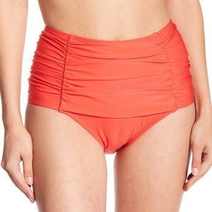 Kate Spade Shirred Pink Sands Bikini Bottom